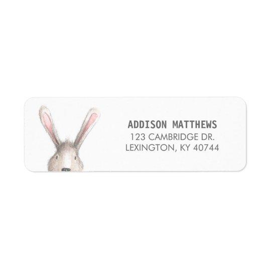 Etiqueta de endereço do remetente bonito do coelho