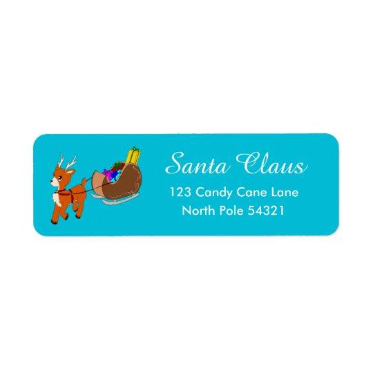 Etiqueta de endereço do remetente bonito do Natal