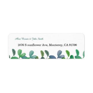 Etiqueta de endereço do remetente botânica do