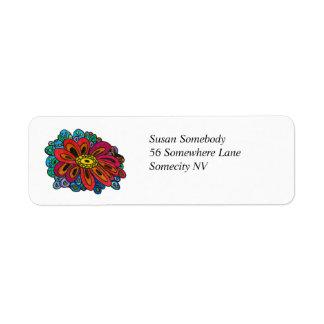 Etiqueta de endereço do remetente colorida do