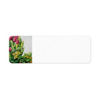 Etiqueta de endereço do remetente cor-de-rosa das