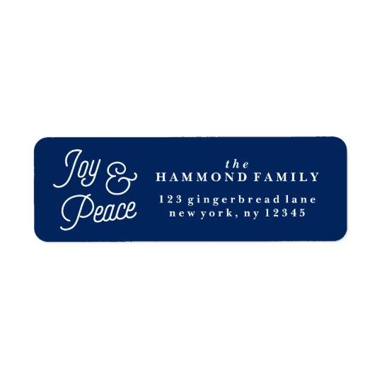 Etiqueta de endereço do remetente da alegria & da