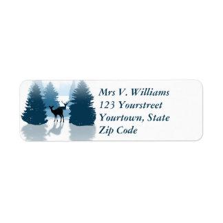 Etiqueta de endereço do remetente da floresta dos