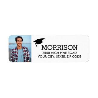 Etiqueta de endereço do remetente da graduação com