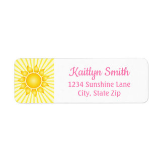 Etiqueta de endereço do remetente da luz do sol