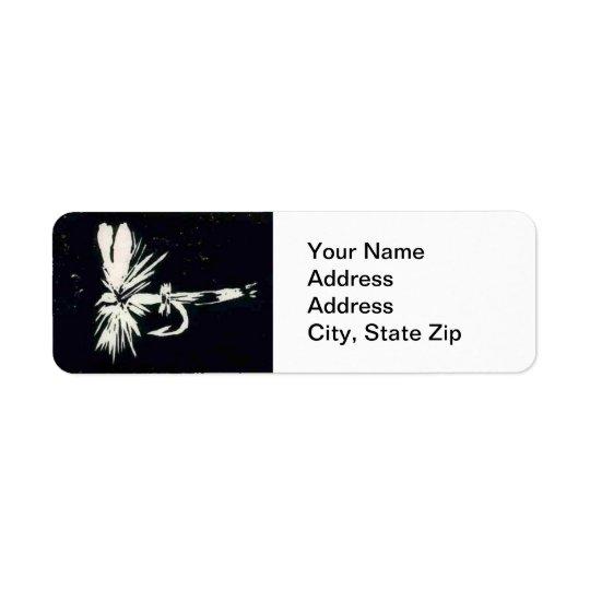 Etiqueta de endereço do remetente da mosca da
