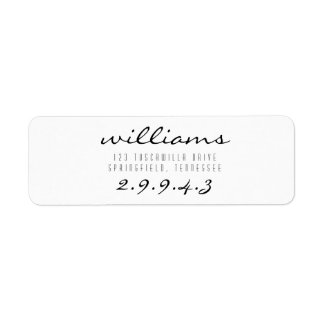 Etiqueta de endereço do remetente da pia batismal