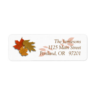 Etiqueta de endereço do remetente das folhas de