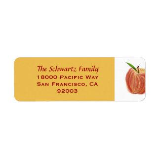 Etiqueta de endereço do remetente de Apple do