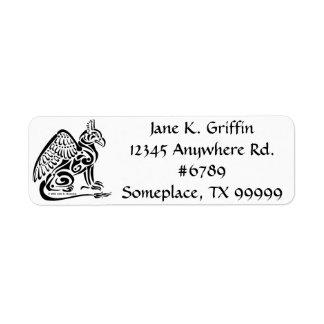 Etiqueta de endereço do remetente de Gryphon
