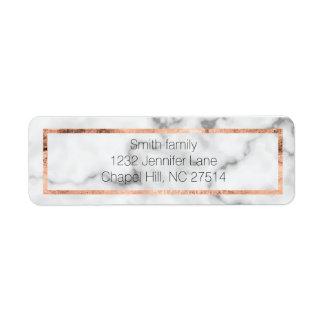Etiqueta de endereço do remetente de mármore e