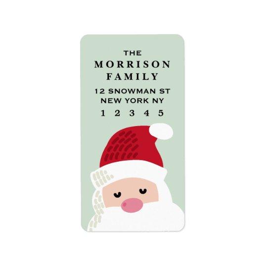 Etiqueta de endereço do remetente de Papai Noel