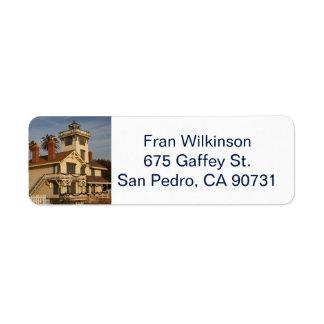 Etiqueta de endereço do remetente de San Pedro