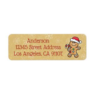 Etiqueta de endereço do remetente do biscoito do