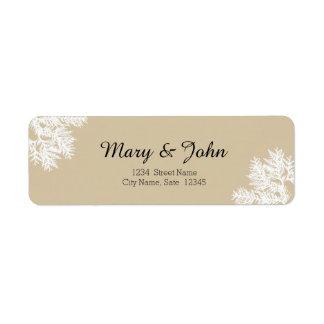 Etiqueta de endereço do remetente do casamento