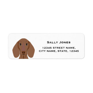 etiqueta de endereço do remetente do dachshund -