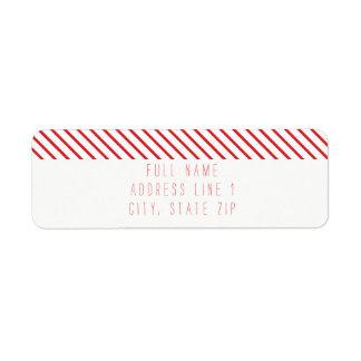 Etiqueta de endereço do remetente do feriado da