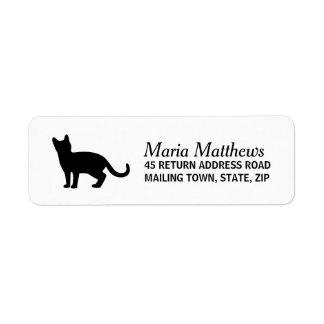 Etiqueta de endereço do remetente do gato - fundo