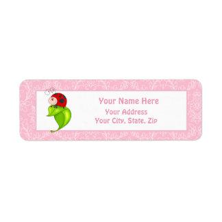 Etiqueta de endereço do remetente do joaninha