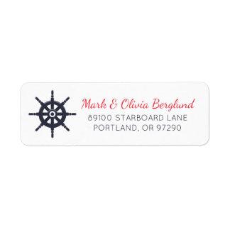 Etiqueta de endereço do remetente do marinheiro da