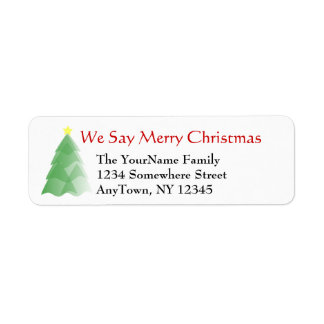 Etiqueta de endereço do remetente do Natal