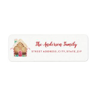 Etiqueta de endereço do remetente do Natal da casa
