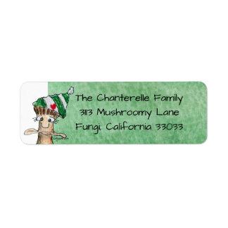 Etiqueta de endereço do remetente do Natal do