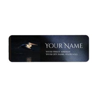 Etiqueta de endereço do remetente do pelicano do