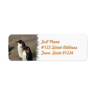 Etiqueta de endereço do remetente do pinguim