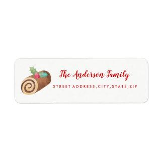 Etiqueta de endereço do remetente doce do Natal do