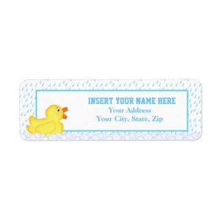 Etiqueta de endereço do remetente Ducky de