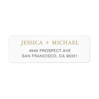 Etiqueta de endereço do remetente elegante moderna