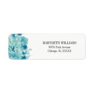 Etiqueta de endereço do remetente floral da