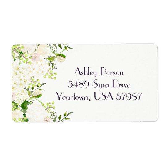 Etiqueta de endereço do remetente floral do