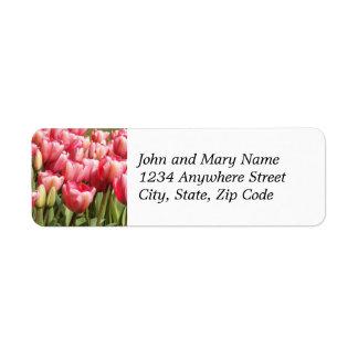 Etiqueta de endereço do remetente floral do jardim