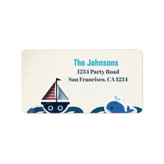 Etiqueta de endereço do remetente náutica