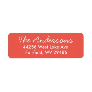 Etiqueta de endereço do remetente vermelha