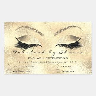 Etiqueta de endereço do salão de beleza da