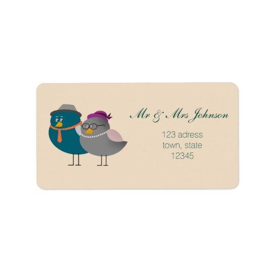 Etiqueta de endereço do Sr. e da Sra. Bonito