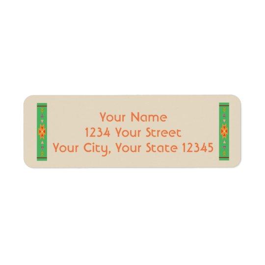 Etiqueta de endereço do sudoeste