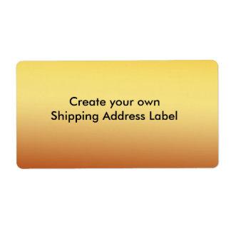 Etiqueta de endereço do transporte do ouro