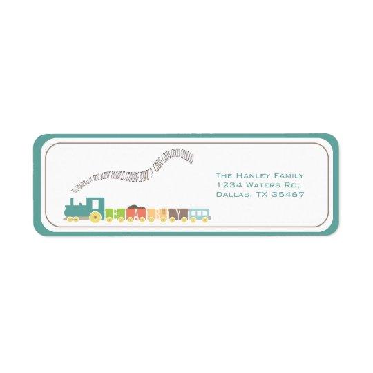 Etiqueta de endereço do trem do bebê