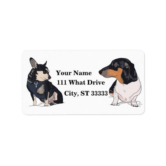 Etiqueta De Endereço etiquetas de endereço do animal de estimação do