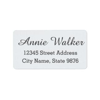 Etiqueta de endereço feita sob encomenda branca