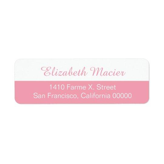 etiqueta de endereço feminino parcialmente