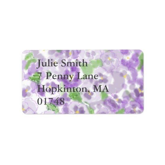etiqueta de endereço floral
