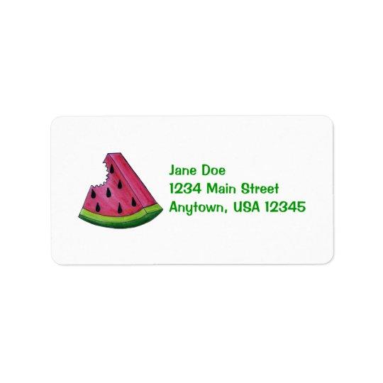 Etiqueta de endereço frutado da fatia da fruta da