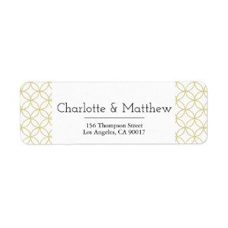Etiqueta de endereço geométrica do casamento de