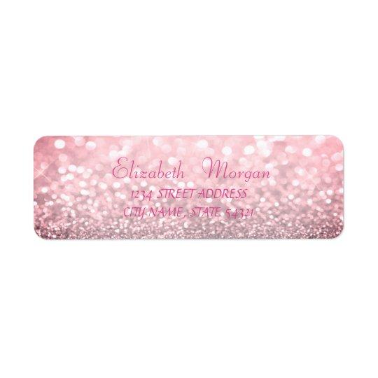 Etiqueta de endereço Glittery glamoroso elegante