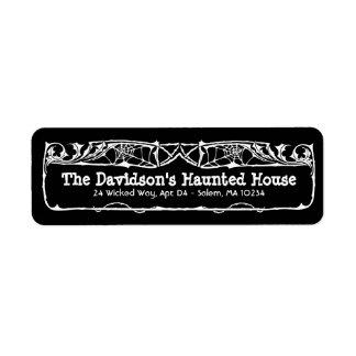 Etiqueta de endereço inoperante do Dia das Bruxas